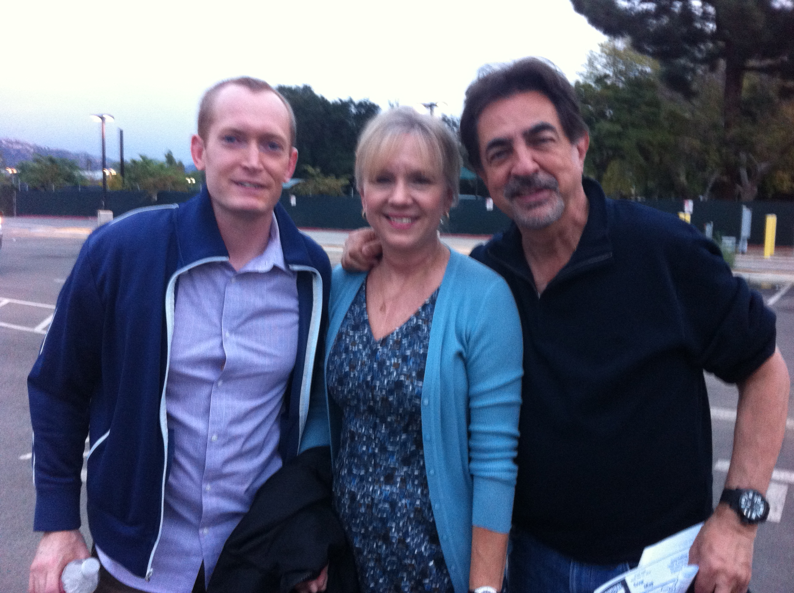 with Joe Mantegna and Sean Summers on set of Criminal Minds