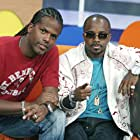 Jermaine Dupri and A.J. at an event for 106 & Park Top 10 Live (2000)