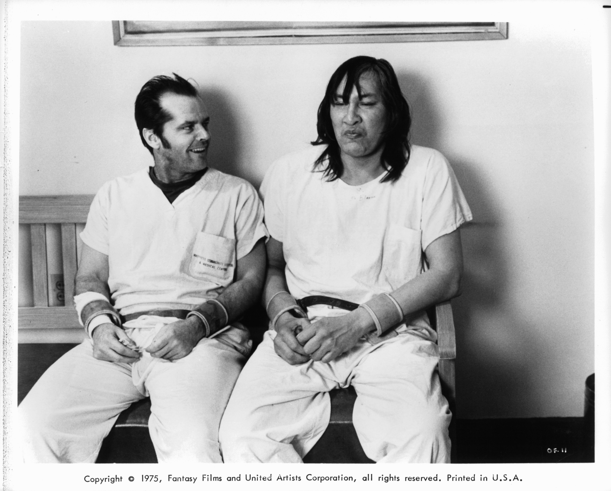 Jack Nicholson and Will Sampson in One Flew Over the Cuckoo's Nest (1975)