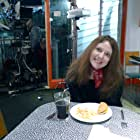Valery Nuttall on the set of HERE WITH ME.