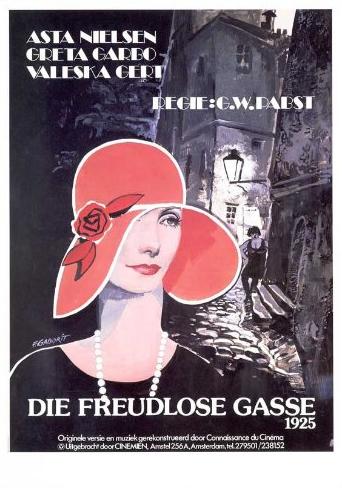 Die Freudlose Gasse Greta Garbo 1925 movie poster
