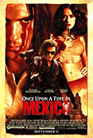 Antonio Banderas, Johnny Depp, and Salma Hayek in Once Upon a Time in Mexico (2003)