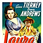 Gene Tierney, Dana Andrews, and Vincent Price in Laura (1944)