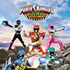 Campbell Cooley, Brennan Mejia, Michael Taber, James Davies, Yoshi Sudarso, and Claire Blackwelder in Power Rangers Dino Charge (2015)