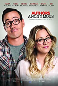 Chris Klein and Kaley Cuoco in Authors Anonymous (2014)