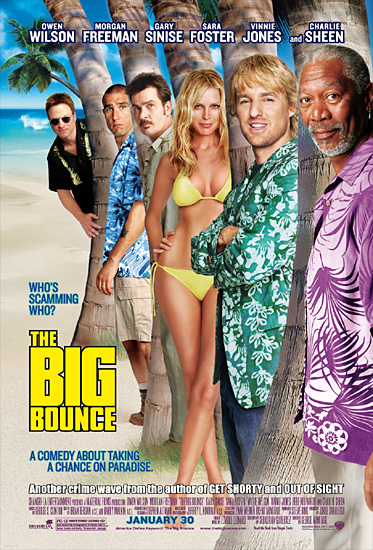 Morgan Freeman, Charlie Sheen, Gary Sinise, Vinnie Jones, Owen Wilson, and Sara Foster in The Big Bounce (2004)