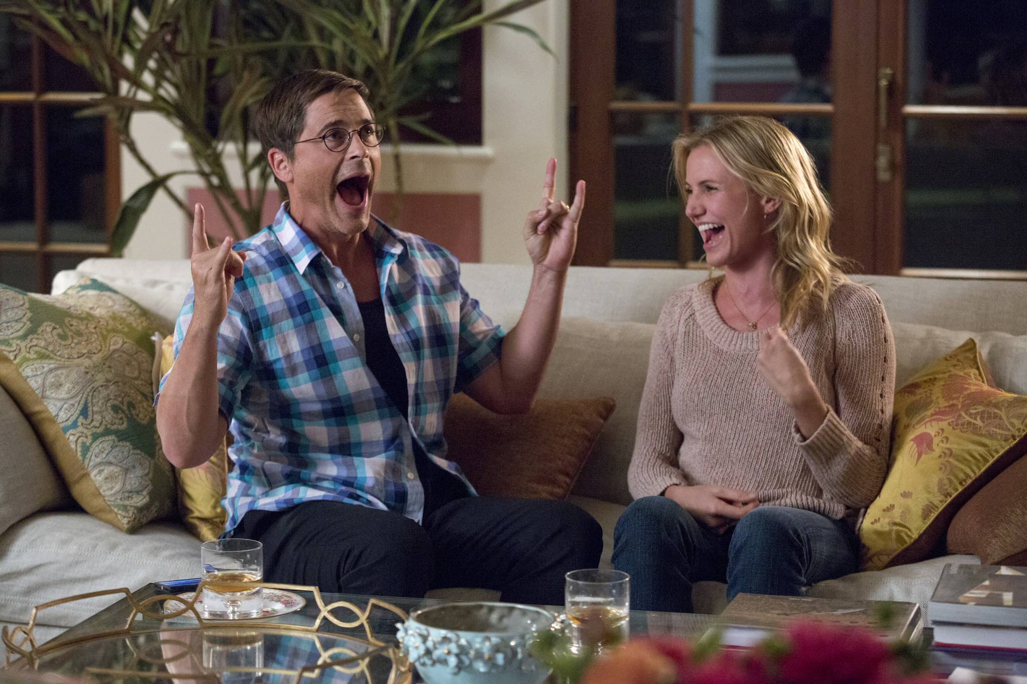Cameron Diaz and Rob Lowe in Sex Tape (2014)
