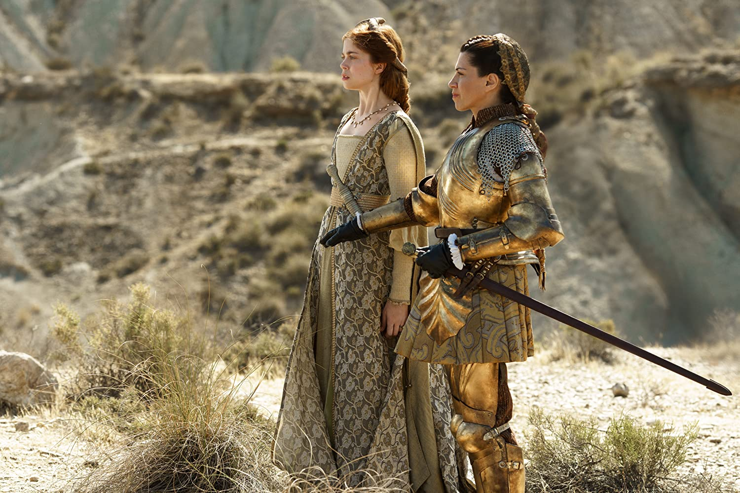 Alicia Borrachero and Charlotte Hope in The Spanish Princess (2019)