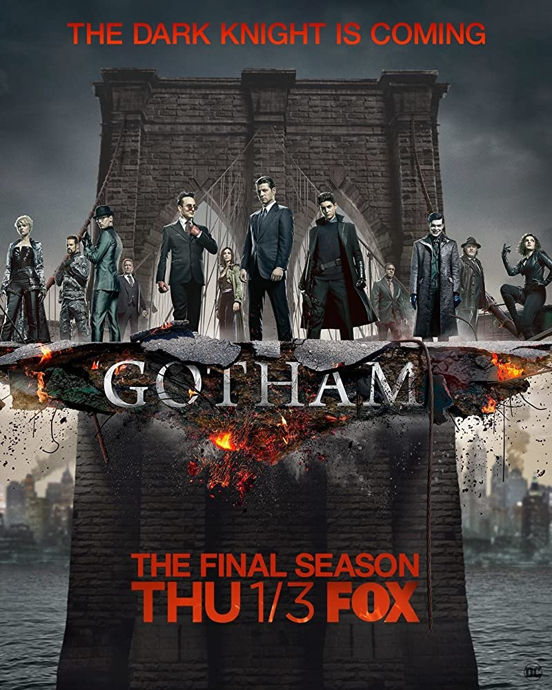 Donal Logue, Morena Baccarin, Cameron Monaghan, Erin Richards, David Mazouz, Camren Bicondova, Cory Michael Smith, and Michelle Veintimilla in Gotham (2014)