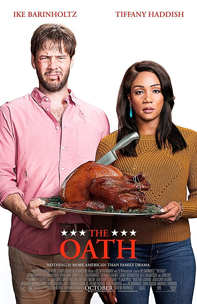 Ike Barinholtz and Tiffany Haddish in The Oath (2018)