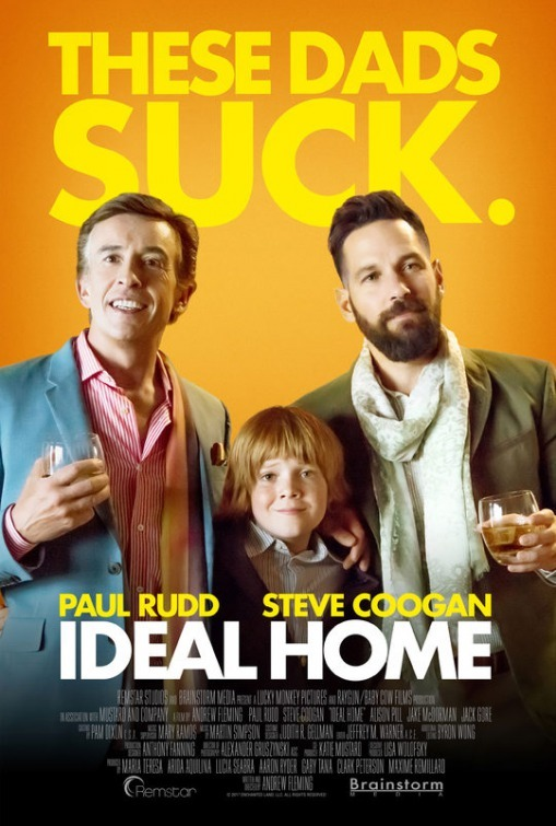 Steve Coogan, Paul Rudd, and Jack Gore in Ideal Home (2018)