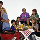 Patrick Duffy, Suzanne Somers, Christine Lakin, Patrika Darbo, Josh Byrne, Brandon Call, Christopher Castile, Staci Keanan, Peggy Rea, and Angela Watson in Step by Step (1991)