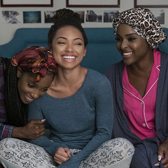 Logan Browning, Antoinette Robertson, and Ashley Blaine Featherson in Dear White People (2017)