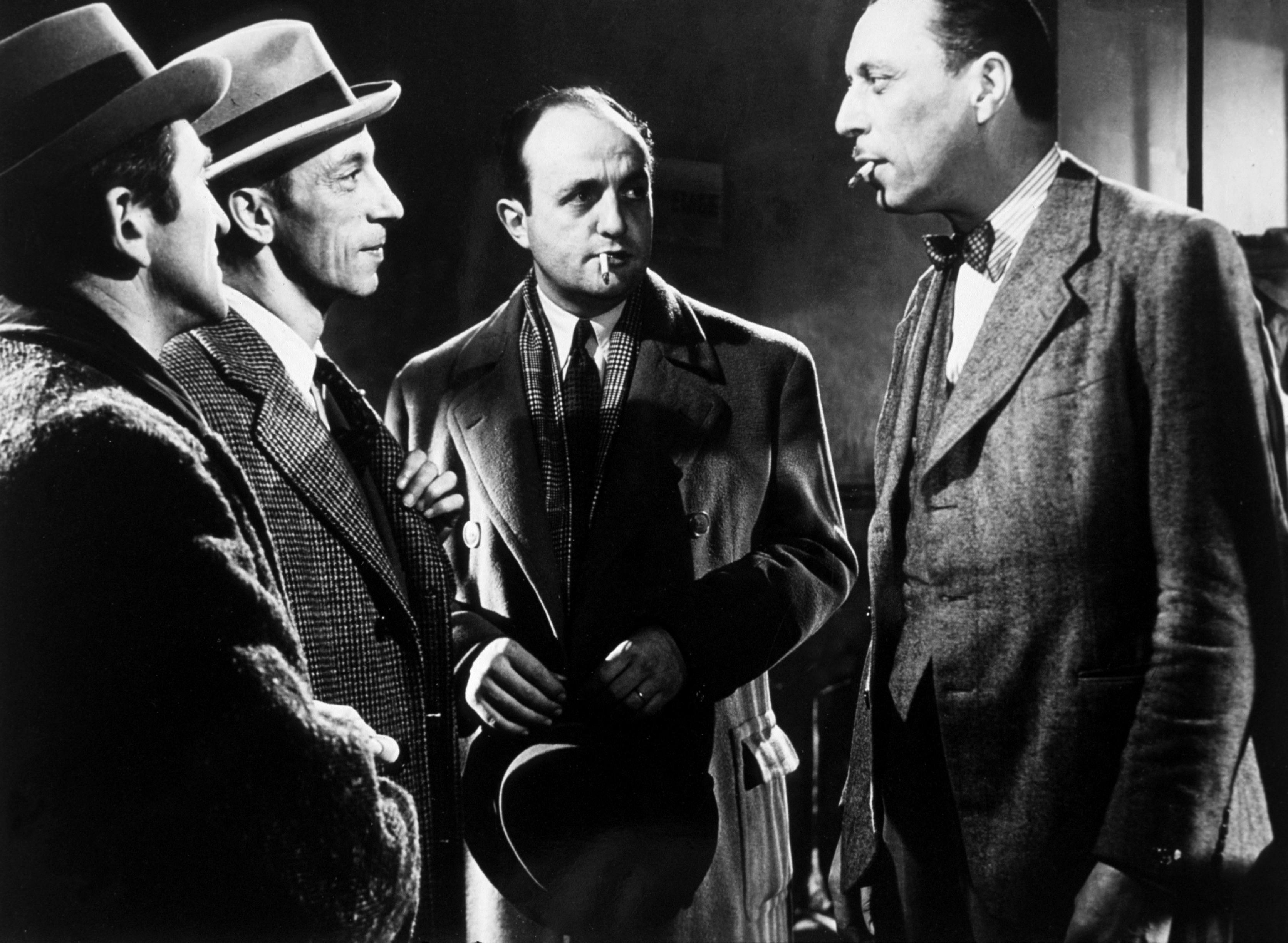 Bernard Blier, Raymond Bussières, and Louis Jouvet in Quai des Orfèvres (1947)