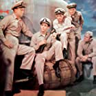 Van Johnson, Arthur Franz, Fred MacMurray, and Jerry Paris in The Caine Mutiny (1954)