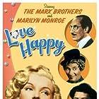 Groucho Marx, Marilyn Monroe, Chico Marx, and Harpo Marx in Love Happy (1949)