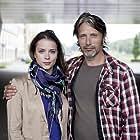 Mads Mikkelsen and Gabriela Marcinková in Move On (2012)