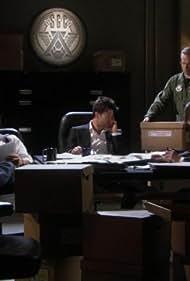 Joe Flanigan and Jason Momoa in Stargate: Atlantis (2004)