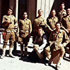 William Holden, Ernest Borgnine, Bo Hopkins, Rayford Barnes, Ben Johnson, Warren Oates, and Jaime Sánchez in The Wild Bunch (1969)