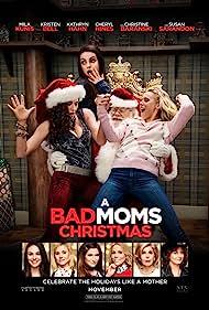 Mila Kunis, Kristen Bell, Kathryn Hahn, and Phil Pierce in A Bad Moms Christmas (2017)