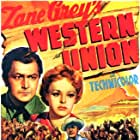 Randolph Scott, Robert Young, and Virginia Gilmore in Western Union (1941)