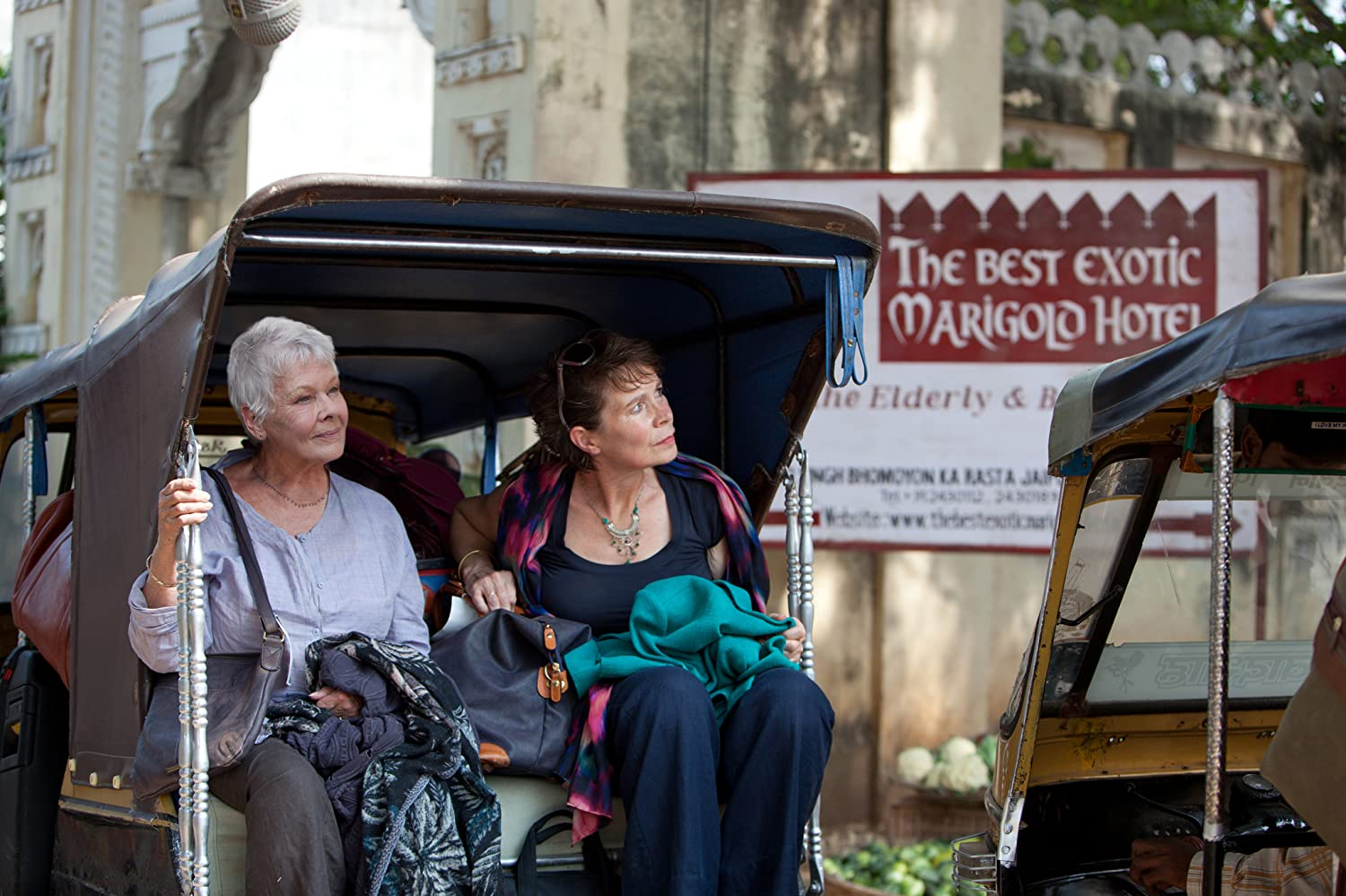 Judi Dench and Celia Imrie in The Best Exotic Marigold Hotel (2011)