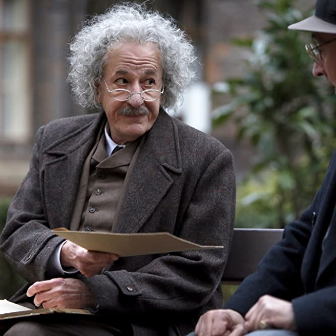 Geoffrey Rush and Miles Richardson in Genius (2017)