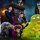 Steve Buscemi, Adam Sandler, Kevin James, Jonny Solomon, Keegan-Michael Key, Selena Gomez, Andy Samberg, and Asher Blinkoff in Hotel Transylvania 2 (2015)