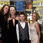 Writer, Producer & Director James Crow with The Thorson horror family, Lucy Clarvis, Lawrence Weller & Sarah Rose Denton at Curse of the Witching Tree Premiere.