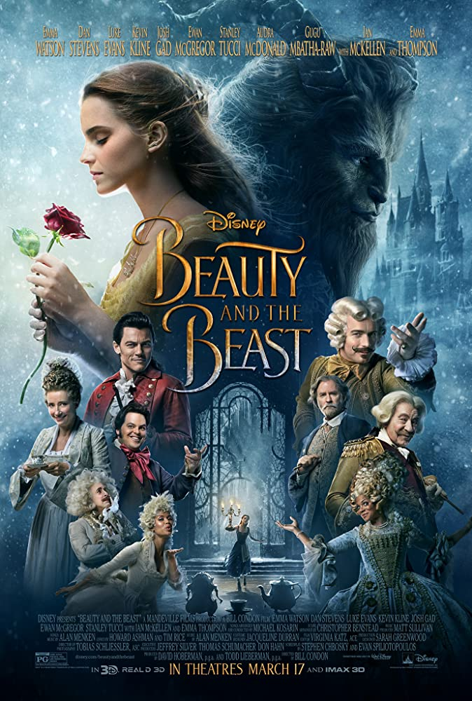 Kevin Kline, Ewan McGregor, Emma Thompson, Stanley Tucci, Ian McKellen, Audra McDonald, Emma Watson, Josh Gad, Dan Stevens, Luke Evans, and Gugu Mbatha-Raw in Beauty and the Beast (2017)