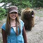 Brittney Wilson on set with WHOPPER.  Bragg Creek, Alberta June 2006.