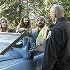 Tori Anderson, Paul Lazenby, Joshua Sasse, and George Basil in No Tomorrow (2016)