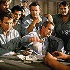 Paul Newman, Joe Don Baker, Lou Antonio, Marc Cavell, Chuck Hicks, and Wayne Rogers in Cool Hand Luke (1967)