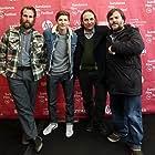 Jack Black, Gregg Turkington, Rick Alverson, and Tye Sheridan at an event for Entertainment (2015)