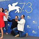 Luis Callejo, Antonio de la Torre, Beatriz Bodegas, and Raúl Arévalo at an event for Tarde para la ira (2016)