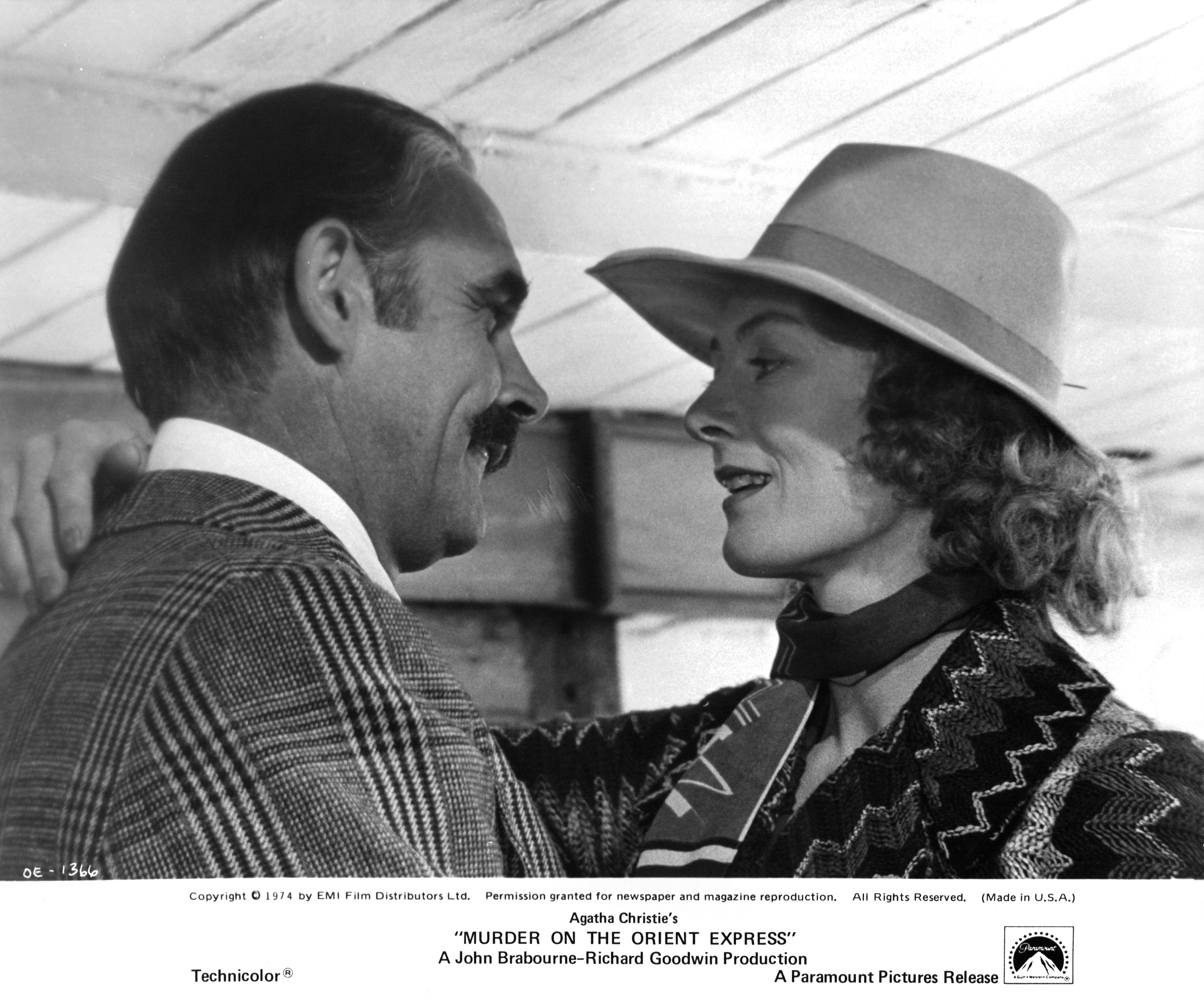 Sean Connery and Vanessa Redgrave in Murder on the Orient Express (1974)