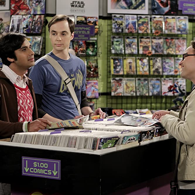 Johnny Galecki, Jim Parsons, and Kunal Nayyar in The Big Bang Theory (2007)