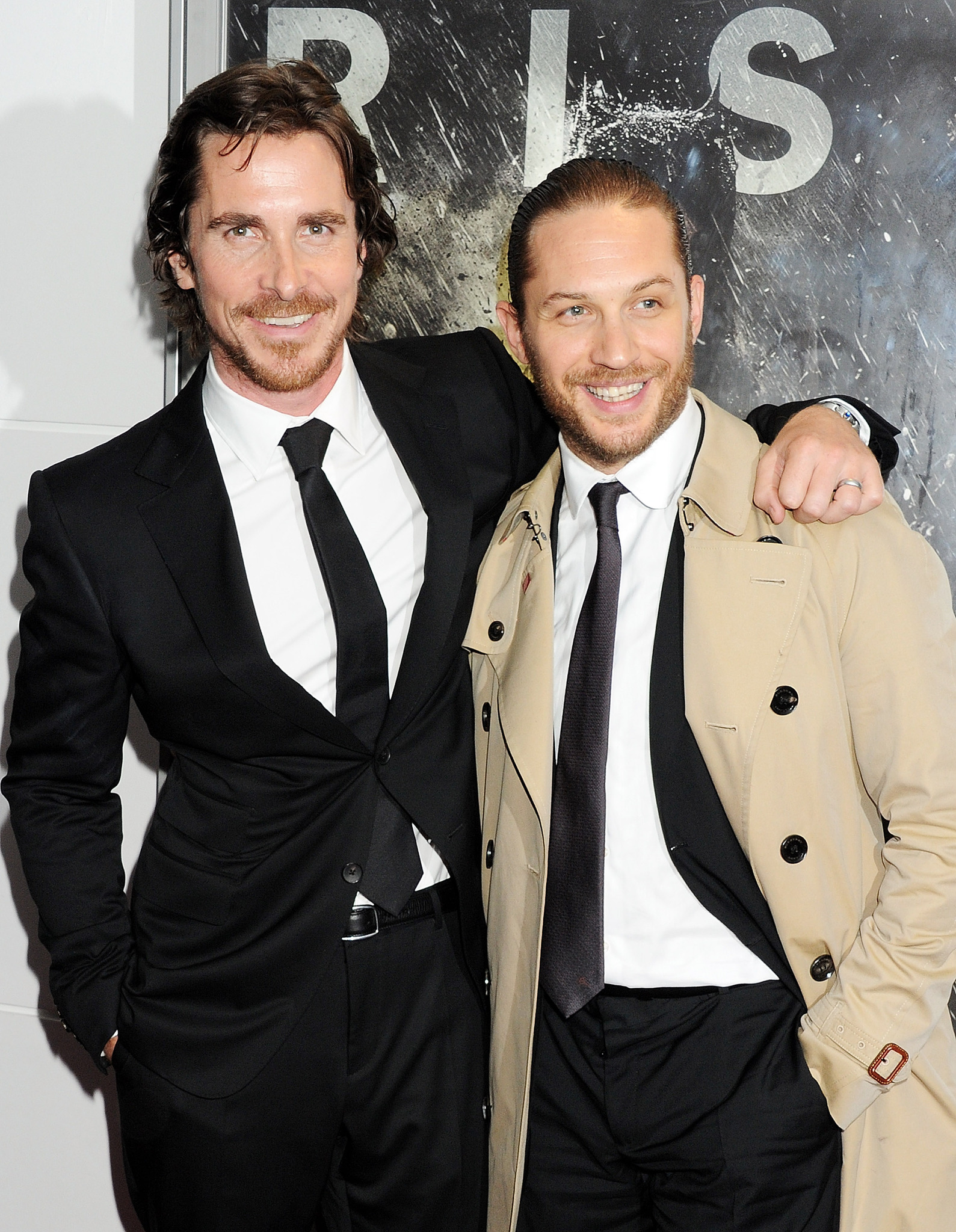 Christian Bale and Tom Hardy at an event for The Dark Knight Rises (2012)