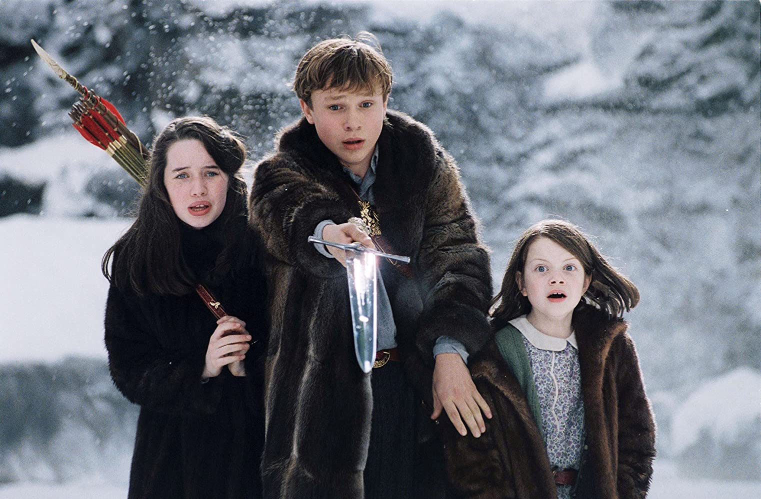 William Moseley, Anna Popplewell, and Georgie Henley in The Chronicles of Narnia: The Lion, the Witch and the Wardrobe (2005)