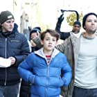 Director / Choreographer Paul Becker walks Nathan Kress and Colin Critchley through a scene in Brooklyn.