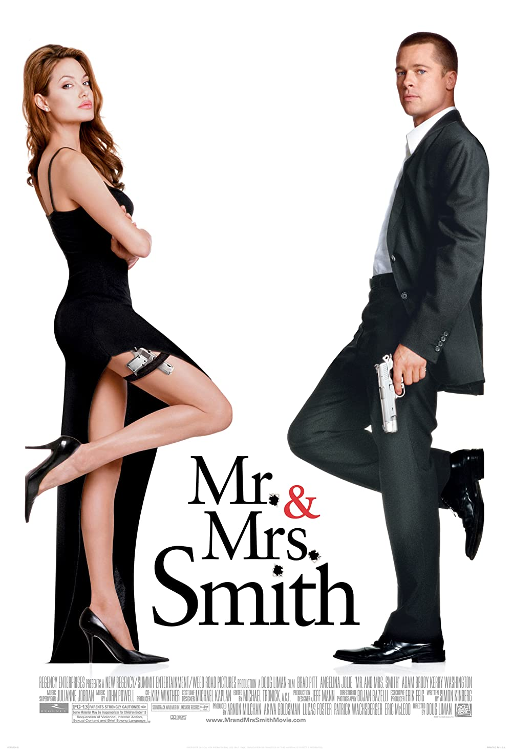 Mr. and Mrs. Smith 2005 Hindi Dual Audio 450MB BluRay ESubs