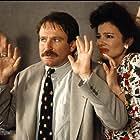 Robin Williams, Fran Drescher, and Zack Norman in Cadillac Man (1990)