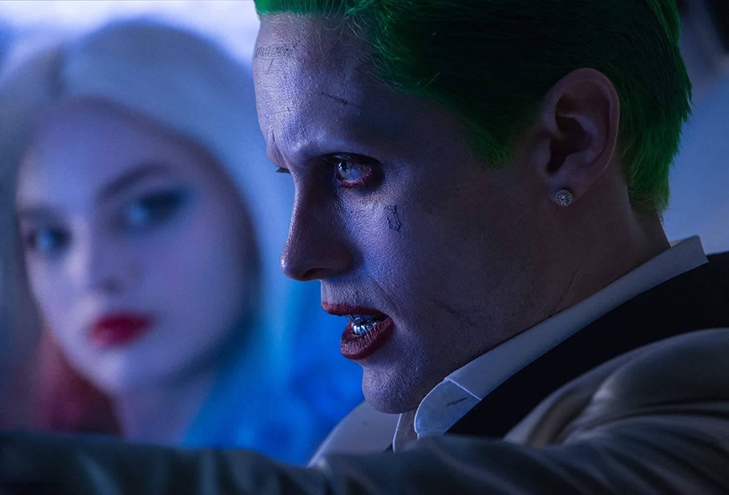 Jared Leto and Margot Robbie in Suicide Squad (2016)