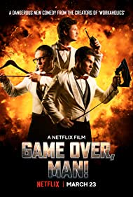 Adam Devine, Anders Holm, and Blake Anderson in Game Over, Man! (2018)