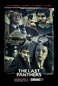 John Hurt, Samantha Morton, Goran Bogdan, and Tahar Rahim in The Last Panthers (2015)