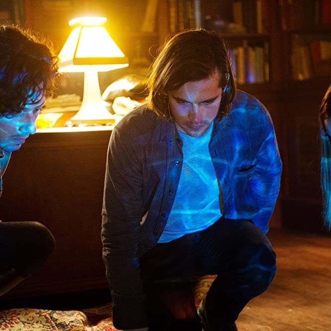 Summer Bishil, Hale Appleman, and Jason Ralph in The Magicians (2015)