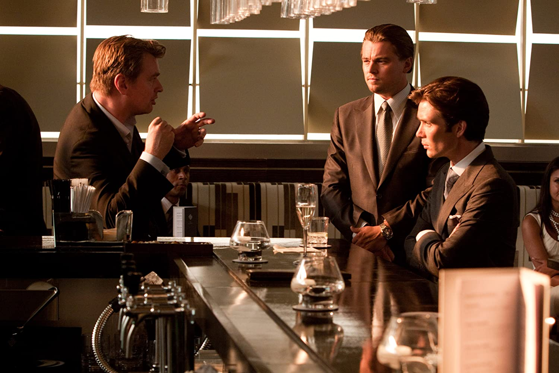 Leonardo DiCaprio, Cillian Murphy, and Christopher Nolan in Inception (2010)
