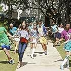 Raymond Cham Jr., Maia Mitchell, Garrett Clayton, Ross Lynch, and Gracie Gillam in Teen Beach 2 (2015)