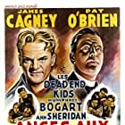 James Cagney, Pat O'Brien, Gabriel Dell, Leo Gorcey, Huntz Hall, Billy Halop, Bobby Jordan, Bernard Punsly, and The Dead End Kids in Angels with Dirty Faces (1938)
