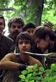 Gordon Kennedy, Harry Lloyd, Joe Armstrong, Anjali Jay, and Jonas Armstrong in Robin Hood (2006)